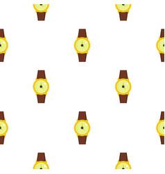Gold wristwatch pattern seamless vector