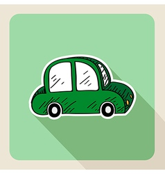 Hand drawn green car rental concept vector