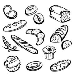 Bakery bread vector