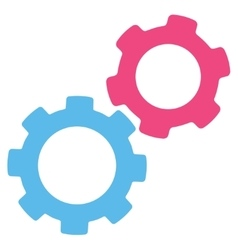 Gears icon from commerce set vector