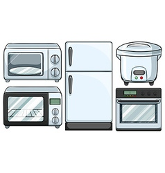 Electronic equipment used in kitchen vector