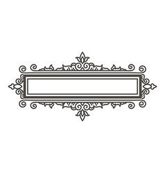 frame design element and page decoration vector image