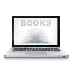Open book in laptop vector