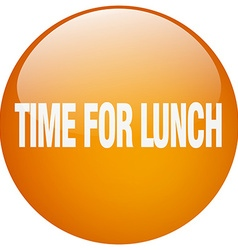 Time for lunch orange round gel isolated push vector