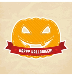 Happy halloween label vector