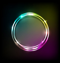 abstract background with colorful neon circles vector image vector image