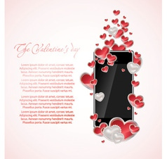 art background with heart vector image vector image