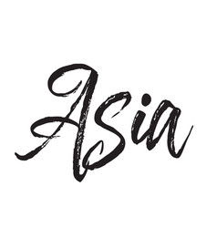 Asia text design calligraphy typography vector