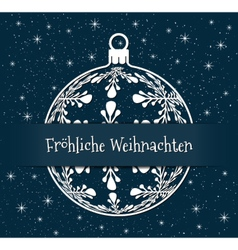 blue german christmas background vector image
