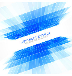 Blue perspective abstract background in business vector