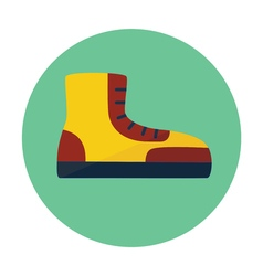 Boot outline icon vector