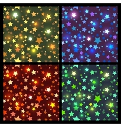 Bright stars seamless texture vector image vector image