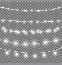 christmas white lights vector image vector image
