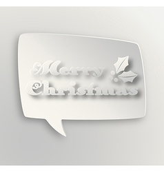 Contemporary merry christmas bubble vector