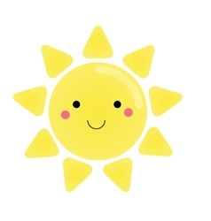 Cute kawaii sun character for vector