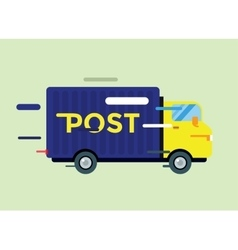 Delivery truck service van silhouette vector image vector image