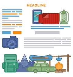 Design Travel brochures vector image