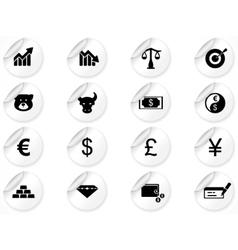 economics icons vector image vector image