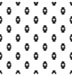 Fitness smart watch pattern simple style vector