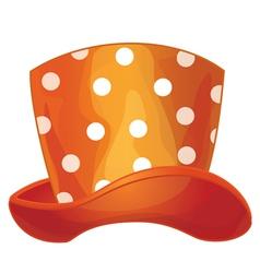 Funny orange hat vector