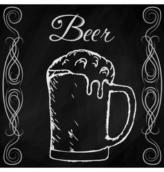 hand drawn sketch of beer vector image