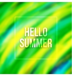 Hello summer blurred background with Brazil colors vector image vector image