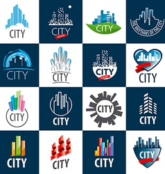 large set of logos city vector image vector image