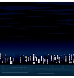 Night view of the modern city image vector