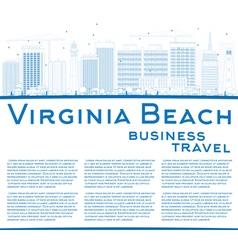 Outline virginia beach skyline vector