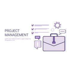 project management business idea development vector image vector image