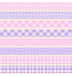 Ribbons and borders vector image vector image