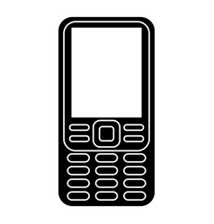 smartphone mobile technology retro pictogram vector image vector image