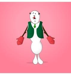 Snowman shrugging shoulders vector