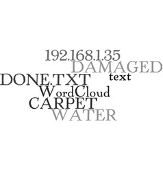 Water damaged carpet what can be done text word vector