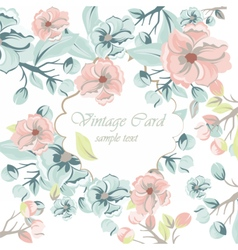 Watercolor Spring Flowers Background vector image vector image