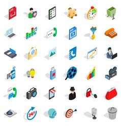 Web busket icons set isometric style vector