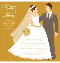 Wedding couple eps10 vector image vector image