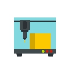 3D printer icon flat style vector image