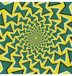 Optical background green bows revolves circularly vector