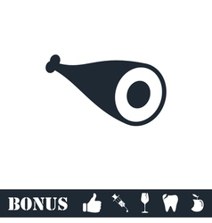 Meat icon flat vector image