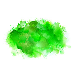 Green shadow watercolor stains bright color vector