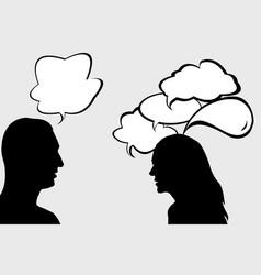 dialogue between woman and man vector image