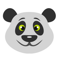 head of panda bear icon isolated vector image