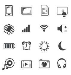 Big data icon set sign of mobile phone vector