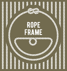 Retro round rope frame with knot vector