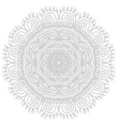 Round ethnic pattern vector image