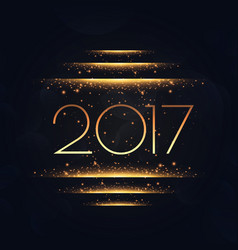 2017 with golden lights effect vector