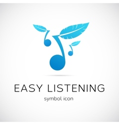 Easy listening music concept symbol icon vector