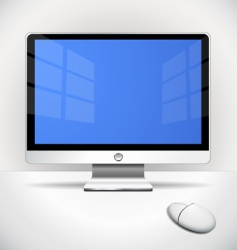 flat screen vector image