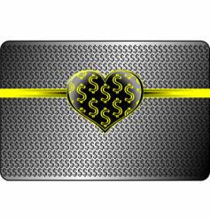 Money and love background vector